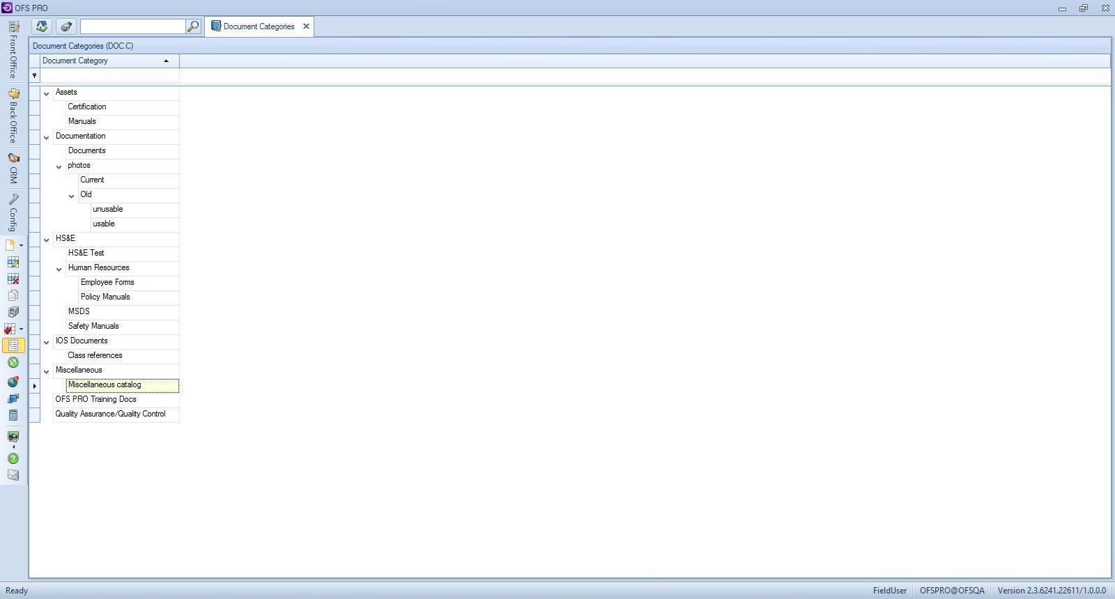 document categories