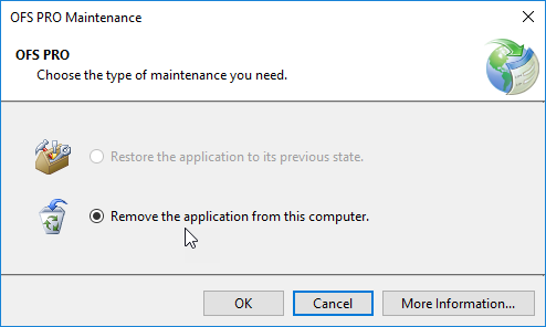 step 3.remove ofs pro
